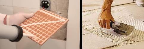 Aplicar pegamento para baldosas o azulejos