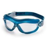Gafas montura integral con ocular claro antiempañante Mod. 'X7' - Azul