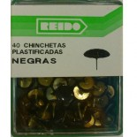 Kit 40 Chinchetas Plastificadas Negras