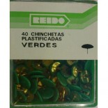Kit 40 Chinchetas Plastificadas Verdes