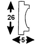 Cornisa F-01/1 (Unidad = 4 metros longitud)