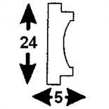 Cornisa F-01/2 (Unidad = 4 metros longitud)