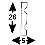 Cornisa F-02/1 (Unidad = 4 metros longitud)