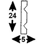 Cornisa F-02/2  (Unidad = 4 metros longitud)