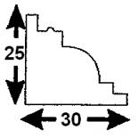 Cornisa S-04/1 (Unidad = 4 metros longitud)