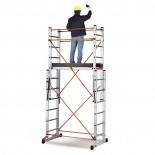 Andamio de aluminio telescópico transformable en 2 escaleras Svelt Target