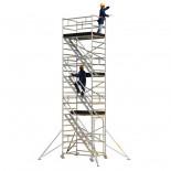 Andamio de aluminio con escaleras internas Svelt Tempo Confort - 2,00x3,42 metros