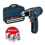 Bosch GSR 12V-15 Professional con 2 baterías de 2Ah + Accesorios + Bolsa