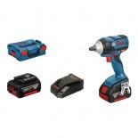 Atornillador de impacto a batería Bosch GDS 18V-EC 250 Professional con 2 baterías