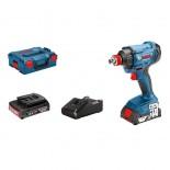 Bosch GDX 18V-180 Professional + 2 baterías 2Ah en L-BOXX - Atornillador de impacto a batería