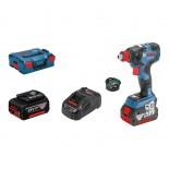 Atornillador de impacto a batería Bosch GDX 18V-200 C Professional con 2 baterías y Bluetooth