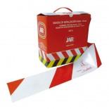 Banda de señalización de 10cm Reforzada JAR Blanca/Roja (Rollo 250 metros)