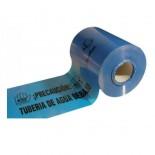 Banda señalización agua azul de 25cm - 250 metros