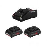 Juego 2 baterías Bosch ProCORE18V 4Ah + cargador GAL 18V-40