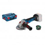 Miniamoladora a batería Bosch GWS 18V-10 SC Professional en L-BOXX con módulo Bluetooth
