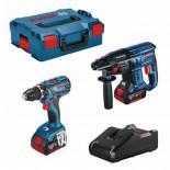 Kit Bosch Martillo GBH 18V-21 + Taladro GSR 18V-28 con 2 baterías 4Ah