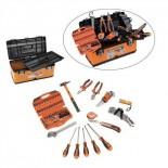 Caja de herramientas metálica HR con 79 piezas
