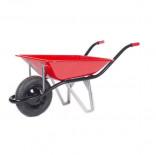 Carretilla ROYAL de 70 litros con rueda impinchable roja