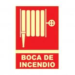 Cartel Boca de Incendio fotoluminiscente