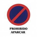 Cartel 'Prohibido aparcar' de 40x30cm PVC