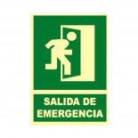 Cartel Salida Emergencia vertical fotoluminiscente hacia la derecha
