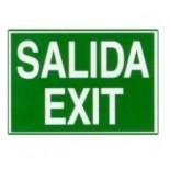 Cartel Salida Exit fotoluminiscente