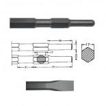 Cincel hexagonal inserción HITACHI H41SA/H45SR (SIN ARO) de 280mm
