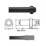 Cincel para martillos neumáticos inserción Redonda 24x12 de 350mm