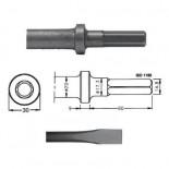 Cincel para martillos neumáticos inserción Hexagonal 14,80x60 de 330mm