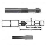 Cincel para martillo neumático inserción Hexagonal IMCO MULTI 261 de 270mm
