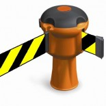 Dispositivo retráctil para conos con 9 metros de cinta - Amarillo/Negro