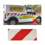 Cinta señalización microprismática para vehículos V-2 de 9 metros x 14,1 cm