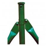 Poste refuerzo de Ø48mm verde Mod. CS - 0'80 metros