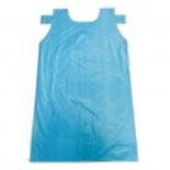 Delantal de polietileno azul de 71x118cm con troquel colgar