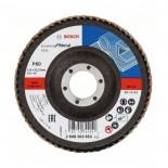 Disco de láminas para lijar metal X431 Bosch de 115mm - Grano P60