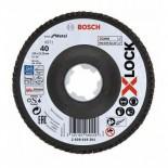 Disco de láminas para metal X571 Bosch X-LOCK de 125mm - Grano 40
