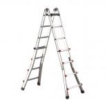 Escalera telescópica transformable de aluminio Svelt Escalísima - 8+8 peldaños