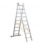 Escalera transformable 2 tramos de aluminio Svelt OK2 - 9 peldaños