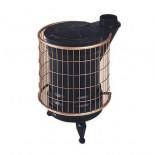 Estufa de leña redonda Panadero Fundida Negro y Oro 9-12kW 225-240m3