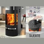 Estufa de leña contemporánea Panadero Suerte Ecodesign 8kW 200m3