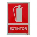 Cartel Extintor fotoluminiscente