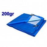 Toldo especial piscinas azul/plata 200gr - 4 x 6 metros