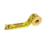 Banda señalización eléctrica amarilla Jar de 15cm - 200 metros