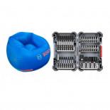 Juego puntas de destornillador Bosch Impact Control (Set 36 piezas) + Sillón inflable