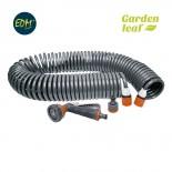Manguera espiral flexible jardín 'Riega Fácil' de 15 metros