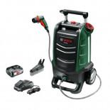Limpiadora a batería para exteriores Bosch Fontus con 1 batería de 2,5Ah