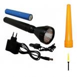 Linterna recargable Especial Señalización SUPER-LED BASIC 3W + cono amarillo