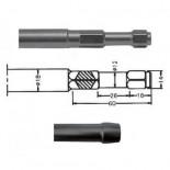 Mango porta-bujardas para martillo neumático inserción Hexagonal IMCO MULTI 261 de 180mm