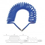 Manguera de aire espiral de poliuretano de 7,5 metros - 10x6,5/7mm