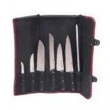 Manta chef con cuchillos Flores Cortés (7 piezas)